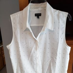 Woman's white blouse with silver size Large